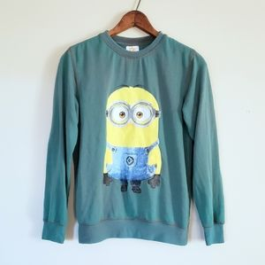 Other - 3/$20 Despicable Me green minion sweatshirt